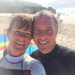 foster carers in wet suits