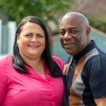 foster carers smiling